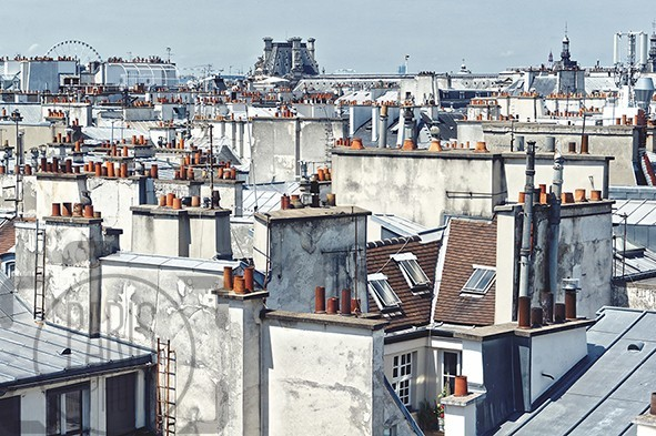 view on the roofs paris gallery of fine art photography. Black Bedroom Furniture Sets. Home Design Ideas