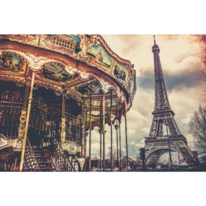 Eiffel Tower and carousel, Paris