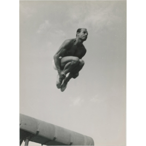 Paris, Fireman in a gymnastics competition, 1962
