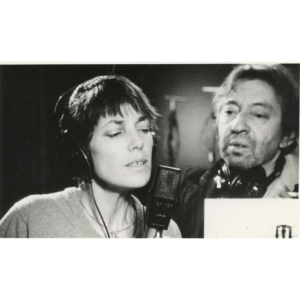 Jane Birkin in a recording session with Gainsbourg