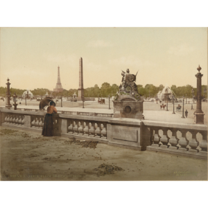 Photochrome ancien – Place de la Concorde et Tuileries – vers 1895