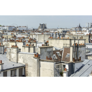 View on the roofs, Paris