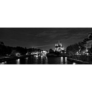A light beam on Notre-Dame – Panoramic