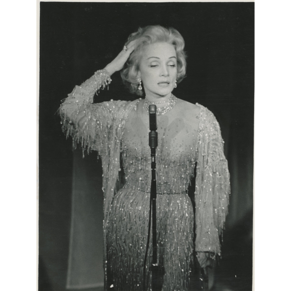 Marlene Dietrich, photo Keystone, vers 1960