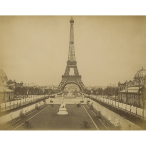 Eiffel Tower and Champ de Mars, Paris 1889 – Original albumin print