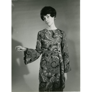 Françoise Hardy in a dress Nina Ricci, photo by Gianni Bozzacchi, 1969 – Silver original stamped print
