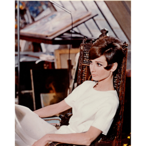 "Audrey Hepburn in the movie ""How to steal a Million"" (1966) – Silver original print"