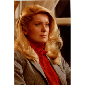 "Catherine Deneuve in the movie ""A nous deux"" (1979) – Silver original stamped print"