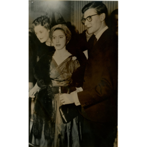 Yves Saint Laurent and princess Margaret, 1958 – Silver original stamped print