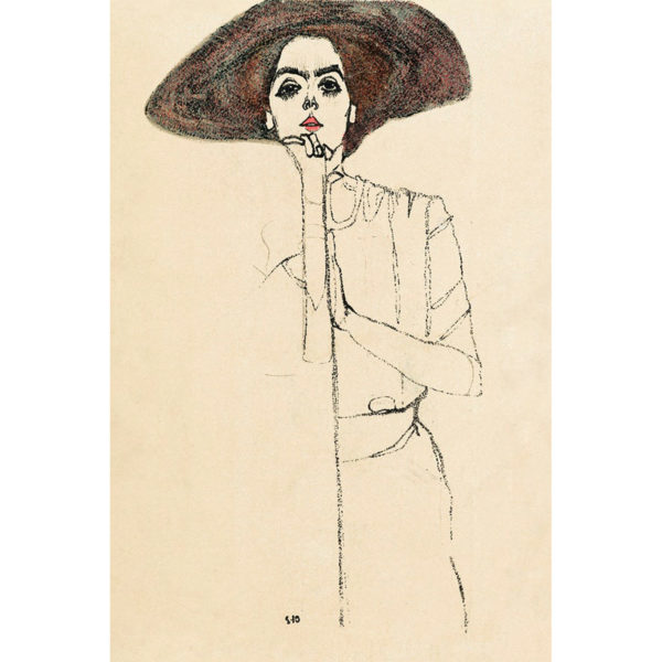 Egon schiele portrait of a woman