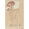Egon Schiele Portrait of a red haired woman