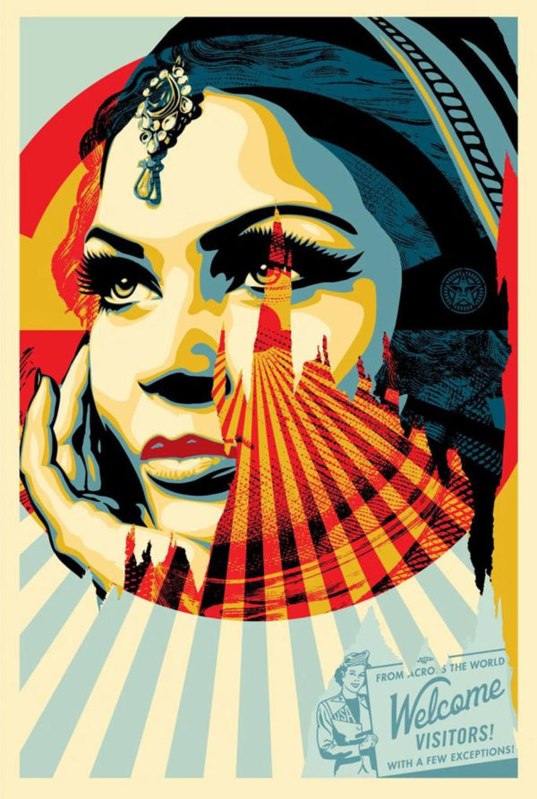 Welcome visitors shepard fairey obey